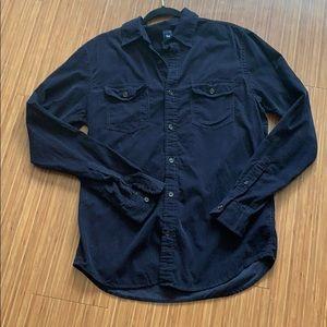 Blue American Eagle Snap Down Shirt